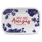 Ceramic Rectangle Tray Pretty Prints: You Are Amazing, Navy/White (Proverbs 31:25) Homeware