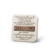 Bronze Title Bar Cast Stone Plaque: Serenity (Phil 4:13)