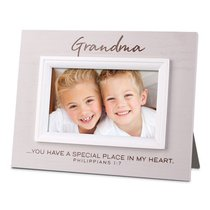 Mdf Textured Frame: Blessings Grandma, Cream (Phil 1:7)
