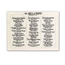 Wall Plaque: Abcs of Faith