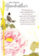 For a Special Grandmother (Pink Flower/bird) Cards