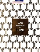 Gift Bag Large: Gold Hexies, You Were Made to Shine (Incl Two Sheets Tissue Paper) Stationery