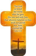 Bookmark Cross-Shaped: For God So Loved the World.... John 3:16 Stationery
