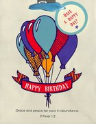 Gift Bag Medium: Happy Birthday (Balloons) Stationery