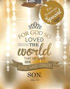 Gift Bag Medium: For God So Loved the World..... (Gold) Stationery