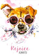 Notepad: Rejoice Always! (Puppy Wearing Sunglasses) Stationery