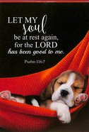 Notepad: Let My Soul Be At Rest Again.... (Puppy Sleeping In Hammock) Stationery