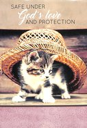 Notepad: Safe Under God's Love and Protection (Kitten Under Sunhat) Stationery