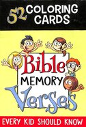 52 Colouring Cards For Kids: Bible Memory Verses, Every Kid Should Know Box