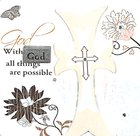 Mark My Words Ceramic Plaque: With God All Things Are Possible