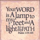 Plaque Tabletop: Your Word is a Lamp to My Feet.... (Psalm 119:105) Plaque