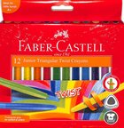 Faber-Castell Junior Traingular Twist Crayon 6mm Box of 12 Stationery
