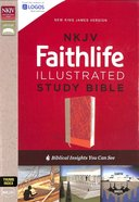 NKJV Faithlife Illustrated Study Bible, Pink (Red Letter Edition) Premium Imitation Leather
