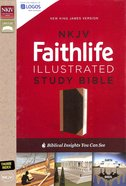 NKJV Faithlife Illustrated Study Bible Black/Tan Indexed (Red Letter Edition) Premium Imitation Leather