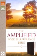 Amplified Topical Reference Bible Black (Black Letter Edition) Bonded Leather