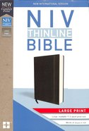 NIV Thinline Bible Large Print Black (Red Letter Edition) Hardback