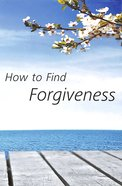 How to Find Forgiveness (Niv) Booklet