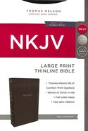 NKJV Thinline Bible Large Print Black (Red Letter Edition) Premium Imitation Leather