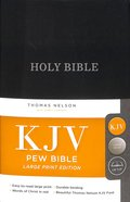 KJV Pew Bible Large Print Blue (Red Letter Edition)