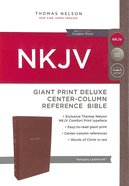 NKJV Deluxe Reference Bible Giant Print Brown (Red Letter Edition) Premium Imitation Leather