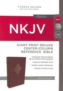 NKJV Deluxe Reference Bible Giant Print Burgundy (Red Letter Edition) Premium Imitation Leather
