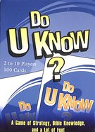 Do U Know? Card Game: A Game of Strategy, Bible Knowledge and a Little Bit of Luck!