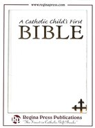 NRSV Catholic Child's First Bible White Gift Hardback