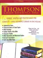 KJV Thompson-Chain Reference Bible Black Indexed (Red Letter Edition) Bonded Leather