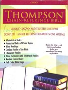 ESV Thompson Chain-Reference Black (Red Letter Edition) Bonded Leather
