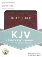 KJV Large Print Compact Reference Bible Burgundy Bonded Leather