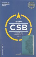 CSB Ultrathin Reference Bible Teal Red Letter Edition Imitation Leather