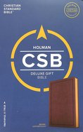 CSB Deluxe Gift Bible Brown Imitation Leather
