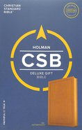 CSB Deluxe Gift Bible Tan Imitation Leather