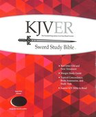 Kjver Sword Study Bible Giant Print Burgundy Indexed (Red Letter Edition)