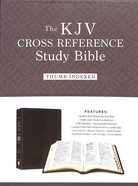 KJV Cross Reference Study Bible Brown Indexed (Red Letter) Bonded Leather