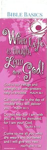 Bible Basics Bookmark: When Life is Tough, Lean on God (10 Pack)