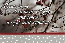 Poster Small: Create in Me a Clean Heart, O God