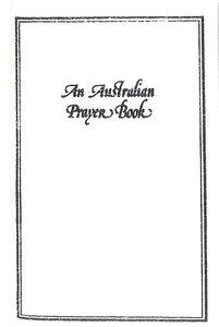 An Australian Prayer Book (White)