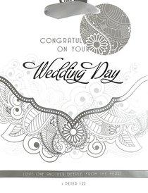 Gift Bag Medium: Congratulations on Your Wedding Day