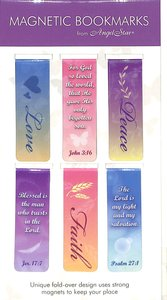 Magnetic Bookmarks Set of 6: Love, Faith, Peace