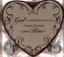 Plaque Heart to Heart: God is Watching Over You... Beige