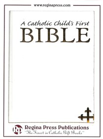 NRSV Catholic Childs First Bible White Gift