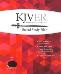 Kjver Sword Study Bible Giant Print Burgundy Indexed (Red Letter Edition)
