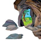 "Lukens Small Cave Overlay (For Use On 16"" X 24"" Background) Flannelgraph"