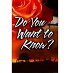 Do You Want to Know? (100 Pack) Booklet