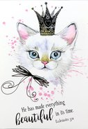 Notepad: He Has Made Everything Beautiful in Its Time (Kitten Wearing A Crown)