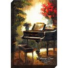 Canvas Wall Art: Amazing Grace, Grand Piano Plaque