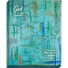 Canvas Wall Art: God is Able, Blue Abstract Plaque