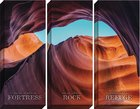 Canvas Wall Art: The Lord is My Fortress , Desert/Rocks (Set Of 3)