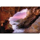 Canvas Wall Art: God Alone, Waves and Rocks Plaque